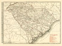 South Carolina 1900 Railroad Map 17x22, South Carolina 1900 Railroad Map